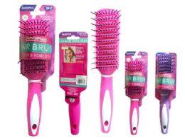 72 Bulk Hair Brush Assorted Color
