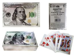 100 of Playing Card Plastic White Gold