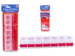 144 Units of Pill Box 7 Day - Pill Boxes and Accesories