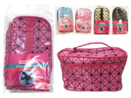 144 Units of Cosmetic Bag With Zipper And Handle - Cosmetic Cases