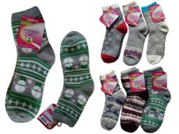 72 of Women's Thick Socks Assorted Designs One Size Fits Most