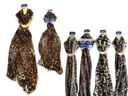 144 Units of Animal Scarf Assorted Designs - Womens Fashion Scarves