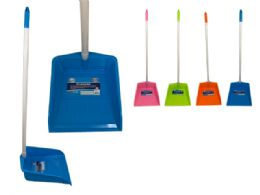 24 Units of Dustpan With Handle Assorted Colors - Dust Pans