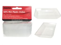 144 Units of Bowl 10 Pieces Square - Plastic Bowls and Plates