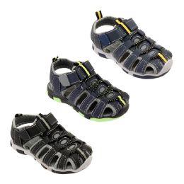 36 Units of Boys Colorful Sandales - Boys Flip Flops & Sandals