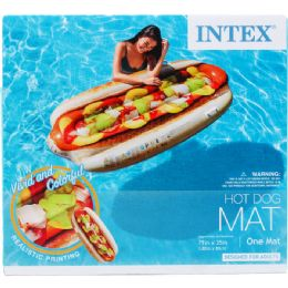 """6 Units of 71""""x35"""" Hotdog Mat In Color Box, Dsgn For Adults - Summer Toys"""