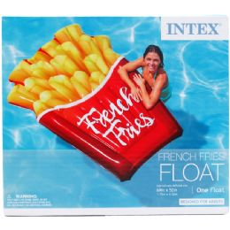 """6 Units of 69""""x52"""" French Fries Float In Color Box, Dsgn For Adults - Summer Toys"""