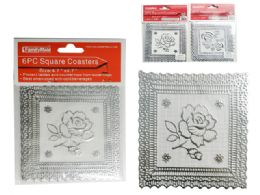 144 Units of 6 Piece Square Coasters - Coasters & Trivets