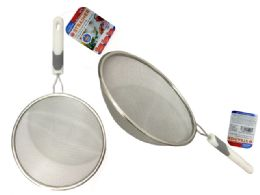 96 Units of Stainless Steel Strainer With Handle - Stainless Steel Cookware