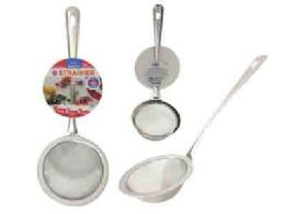 144 Units of Stainless Steel Strainer With Handle - Stainless Steel Cookware