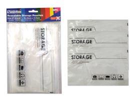 144 Units of Easy Slide Storage Pouches - Garbage & Storage Bags