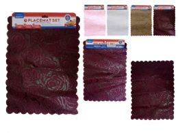 144 Units of 2 Piece Placemats Assorted Color - Placemats