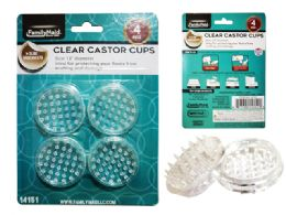 72 Units of Castor Cups Round - Home Accessories