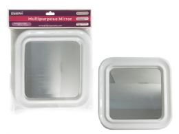 72 Units of White Square Mirror - Cosmetic Cases