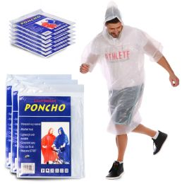 3900 Units of Yacht & Smith Unisex One Size Reusable Rain Poncho Clear 60g pe - Event Planning Gear