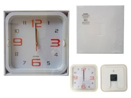 24 Wholesale Square Wall Clock In White