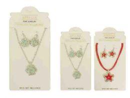 144 Units of Jewelry Set 3 Piece - Necklace Sets