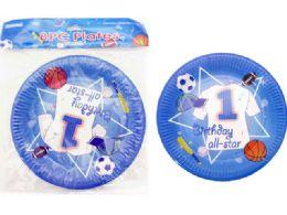 144 Wholesale Boys Birthday Party Plates 8 Pieces