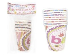 144 Wholesale Party Cups Baby Design