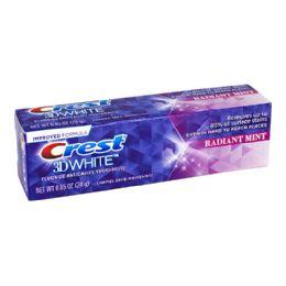 6 Units of Crest 3d White Radiant Mint Toothpaste - 0.85 Oz. - Hygiene Gear