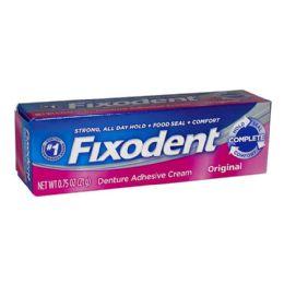 6 Units of Travel Size Fixodent Denture Cream 0.75 Oz Tube - Hygiene Gear
