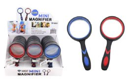 30 Wholesale Mini Magnifying Glass (2.5x) (rubber Coated)