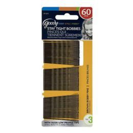 6 Units of Goody Brown Bobby Pins Card Of 60 - Hair Products