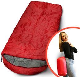 Bulk Camping Lightweight Sleeping Bag 3 Season Warm & Cool Weather Red