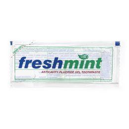 1000 Units of Freshmint 0.28 Oz. Single Use Clear Gel Anticavity Fluoride Toothpaste Packet - Hygiene Gear