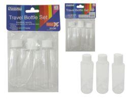 96 Units of 3 Piece Travel Bottle Set - Travel & Luggage Items