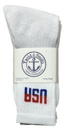 48 Units of Yacht & Smith Men's King Size Cotton Terry Cushion Crew Socks Usa Size 13-16 Bulk Pack - Big And Tall Mens Crew Socks