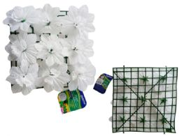 48 Units of Flower Mat 9 Head Flower White - Artificial Flowers