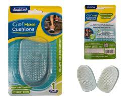144 Units of 1 Pair Gel Heel Cushion Insoles - Footwear & Shoes