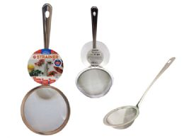 144 Units of Strainer W/ Handle Stainless Steel - Stainless Steel Cookware
