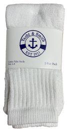 Yacht & Smith Kids White Cotton Tube Socks Size 4-6