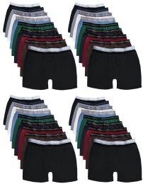 Wholesale Yacht & Smith Mens 100% Cotton Boxer Brief Assorted Colors Size Medium