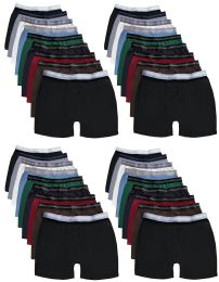 Wholesale Yacht & Smith Mens 100% Cotton Boxer Brief Assorted Colors Size Large