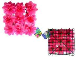 """48 of Flower Mat 9 Head 10""""x10"""" Pink"""