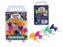 96 Wholesale Push Pins Jumbo 40pc
