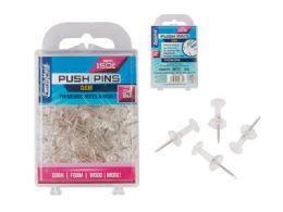 96 Wholesale Push Pins Clear 150pc.