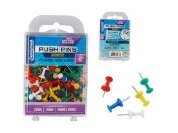 96 Wholesale Push Pins Assorted Colors 150pc.