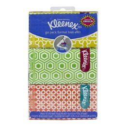 72 Units of Kleenex Pocket Pack Tissues Hangable Travel Size 3 Packs Of 10 - Tissues