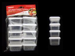 48 Wholesale 10pc Square Multipurpose Containers