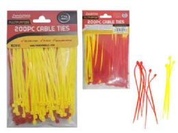 96 Units of 200pc Asst Color Cable Ties - Wires