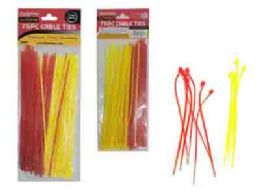 96 of 75pc Assorted Color Cable Ties