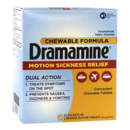 100 of Travel Size Dramamine Pack Of 2