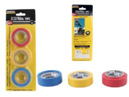 144 Wholesale 3pc Electrical Tape 3 Colors