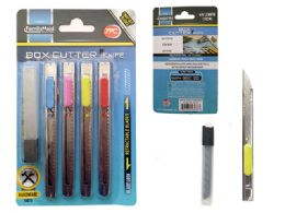 """144 Units of Cutter Knives 7pc 5""""l. 3 Blades - Box Cutters and Blades"""