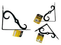 "72 Units of 6"" X 8"" Black Decorative Shelf Support - Home Accessories"