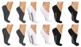 84 Units of Yacht & Smith Womens Cotton No Show Loafer Socks With Anti Slip Silicone Strip - Womens Ankle Sock